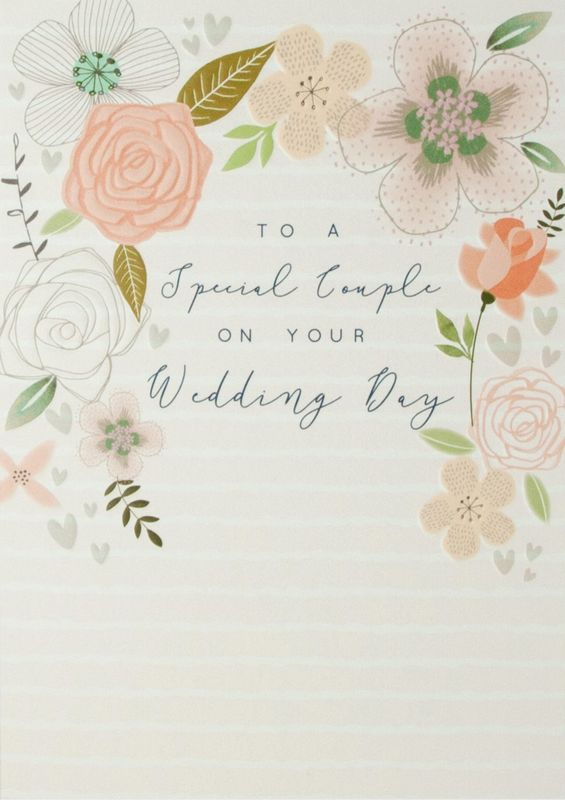 To A Special Couple On Your Wedding Day Card - product images  of