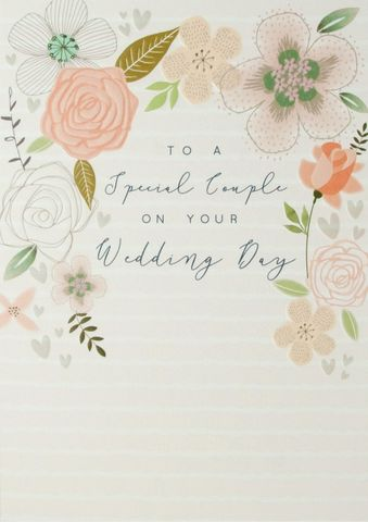 To,A,Special,Couple,On,Your,Wedding,Day,Card,buy special couple wedding day card online, buy wedding cards for a special couple online, buy wedding day cards online with flowers, buy romantic wedding day cards, buy mr and mr cards online, buy mrs and mrs wedding cards online, buy mr and mrs wedding