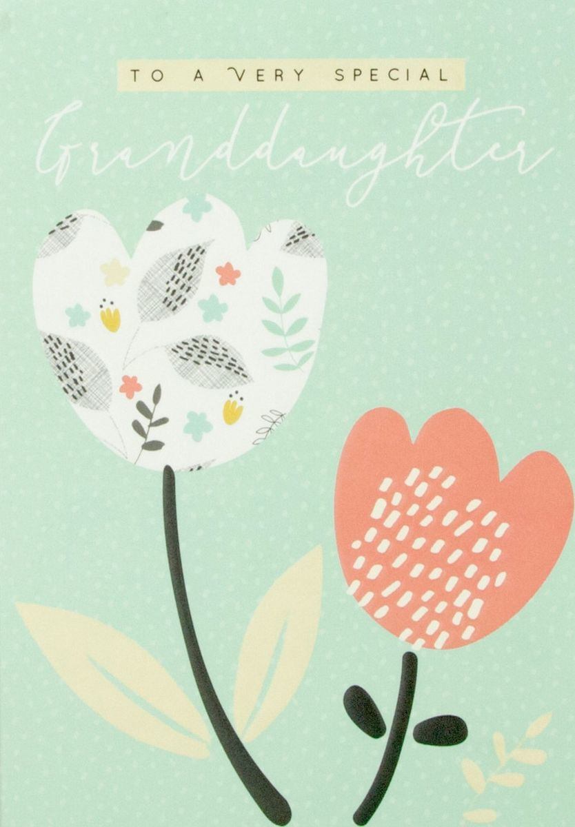 To A Very Special Granddaughter Birthday Card