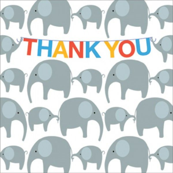 Pack Of Elephants Thank You Cards - Emily Burningham Cards - product images