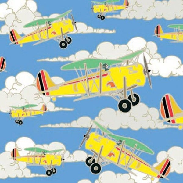 Yellow Aeroplanes Greetings Card - Emily Burningham Blank Card - product images  of