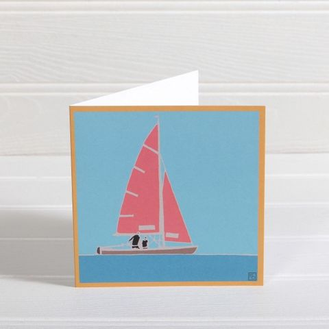 Red,Sail,Boat,Greetings,Card,-,Emily,Burningham,Blank,buy emily burningham cards online, buy blank cards with boats online, buy gone saiing cards for him online, buy cards with sail boats online, buy cards with yachts online, buy seaside cards online, buy sailing boats with water cards online