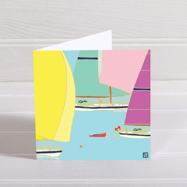 Sailing Boats Greetings Card - Emily Burningham Blank Card - product images