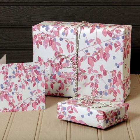Emily,Burningham,Damsons,Gift,Wrap,-,Pack,of,5,Sheets,buy emily burningham gift wrap online., buy floral wrapping paper for her online, buy pretty botantical gift wrap online, buy pack of gift wrap online, buy luxury wrap online