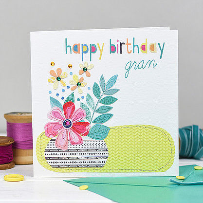 Pot,Of,Flowers,Gran,Birthday,Card,buy botantical gran birthday cards online, buy gran birthday cards online, buy birthday cards for grans online, buy floral birthday card for grandparent, buy floral birthday cards for grans, buy cards for grans, granny, grandma, grandmother, grandparent