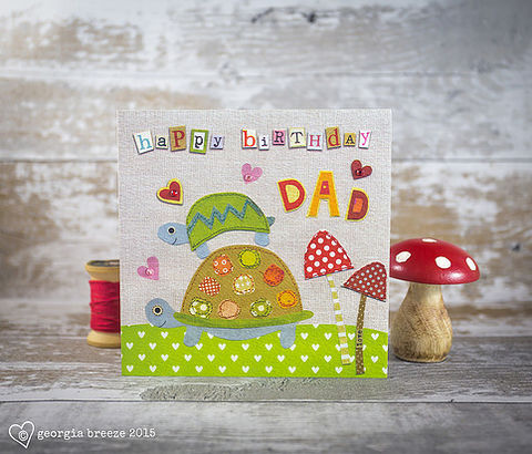 Tortoises,&,Toadstools,Dad,Birthday,Card,buy dad birthday cards online, buy birthday card for dads online, buy tortoise birthday card online, buy parent birthday cards, autumn birthday cards for dads, dad birthday card from little girl or boy