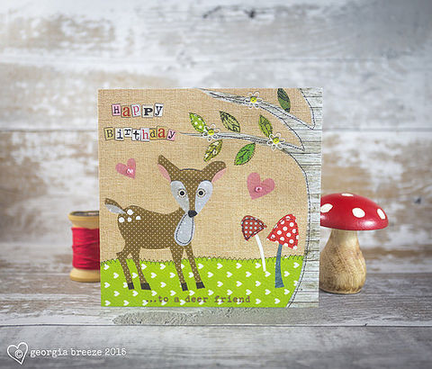 Deer,&,Toadstools,Friend,Birthday,Card,buy autumn birthday cards online, buy special friend birthday cards online for autumn birthdays, buy autumnal birthday cards for special friends online, buy deer birthday cards online, buy toadstool birthday cards online, buy best friend birthday cards on