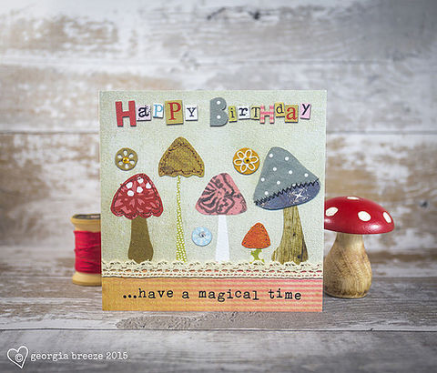 Mushrooms,&,Toadstools,Magical,Birthday,Card,buy autumn birthday cards online, buy birthday cards online for autumn birthdays, buy autumnal birthday cards online, buy magical birthday cards online, buy toadstool birthday cards online, buy magic mushroom birthday cards online