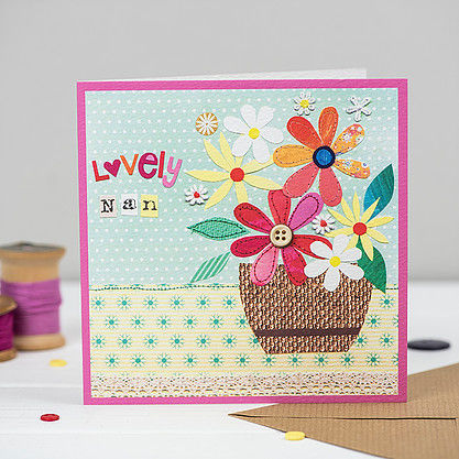 Pot,Of,Flowers,Lovely,Nan,Card,buy botantical nan birthday cards online, buy nan birthday cards online, buy birthday cards for nans online, buy floral birthday card for grandparent, buy floral birthday cards for nanny, buy cards for nannies, granny, grandma, grandmother, grandparent