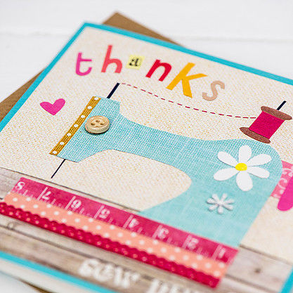 Sewing Machine Thanks Sew Much Card  - product images  of
