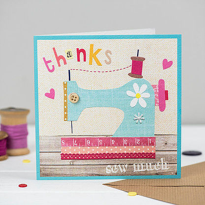 Sewing,Machine,Thanks,Sew,Much,Card,buy sewing machine cards online, buy cards with sewing machines online, buy sewing machine thanks so much card online, buy pretty thank you cards for her online, buy arts and crafts thank you card for sewer crafter online