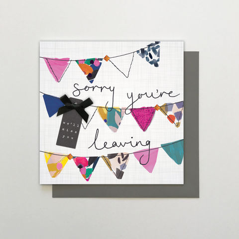 Hand,Finished,Sorry,You're,Leaving,We'll,Miss,You,Card,buy sorry you are leaving pretty card for her online, buy goodbye and good luck card online, buy goodbye card for her online, buy sorry you are leaving card for her online, buy pretty floral goodbye we will miss you card online, buy retirement card for he