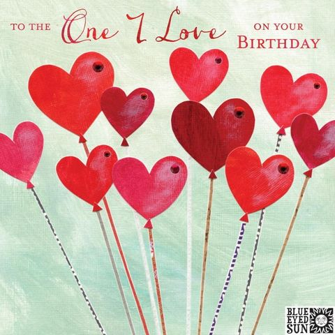 To,The,One,I,Love,Balloons,Birthday,Card,buy to the one i love birthday card online, buy to the one i love card for boyfriend, girlfriend, partner, fiance, fiancee, wife, husband onlinenline, buy to the one i love beautiful birthday card online