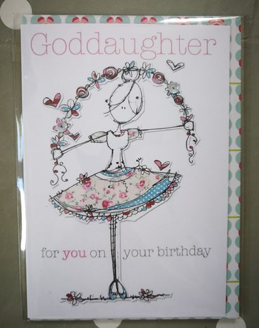 Goddaughter,Ballerina,Birthday,Card,buy goddaughter birthday card online, buy birthday cards for goddaughters online, buy godchild birthday cards online, buy birthday cards for godchildren online, buy ballerina birthday cards for goddaughter online, buy ballerina cards for girls online