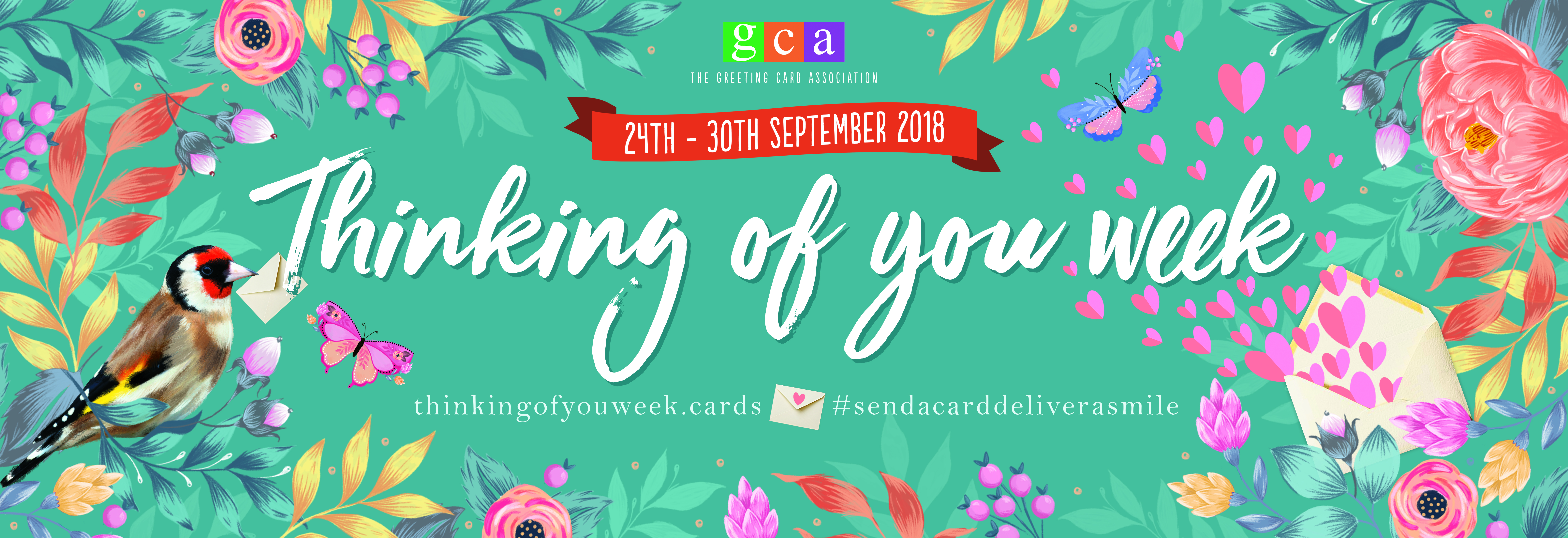The 24th - 30th September is Thinking Of You Week.  What is nicer than receiving an unexpected card or letter!!  So you can select a card or two to send to someone special please use discount code TOYW18 to receive a 20% discount off of all cards in the Thinking Of You & Warm Wishes Cards collection and the Blank Cards collection.  #sendacarddeliverasmile