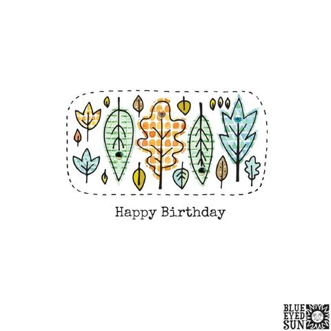 Autumn,Leaves,Birthday,Card,buy autumn leaves brithday cards online, autumn birthday cards for him with leaves, autumn birthday cards for her, gender neutral, unisex with leaves, hand finished luxury unisex birthday cards, buy blue eyed sun birthday cards online,