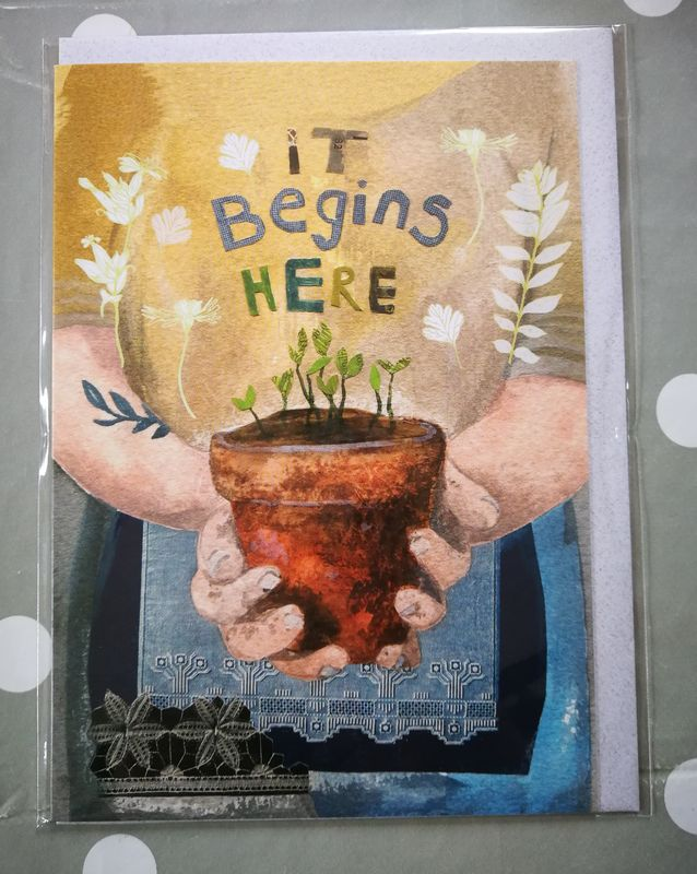Rachel Grant It Begins Here Greetings Card  - product images  of