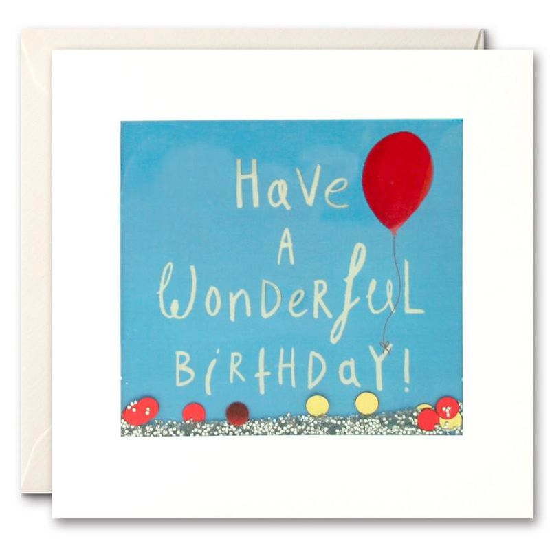 Shakies Red Balloon Wonderful Birthday Card - product images