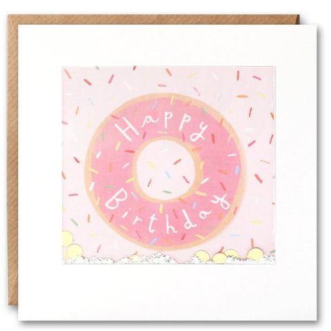 Shakies,Doughnut,Happy,Birthday,Card,buy shakies birthday cards online, buy doughnut birthday cards online, buy wonderful birthday cards for her online, buy gender neutral birthday cards online, buy pink doughnut cake birthday cards online, buy pink cute birthday cards for her online, girls