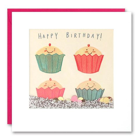 Shakies,Cupcakes,Happy,Birthday,Card,buy shakies birthday cards online, buy cupcake birthday cards online, buy wonderful birthday cards for her online, buy gender neutral birthday cards online, buy girls birthday cupcake cards online, buy pink cute birthday cards for her online, girls