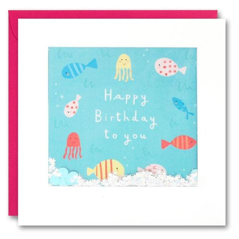 Shakies,Fish,Birthday,Card,buy shakies childrens birthday cards online, buy birthday cards for children online, buy under the sea fish birthday cards for girls boys kids online, buy birthday cards for mermaids online, buy gender neutral birthday cards with sea creatures fish octopu