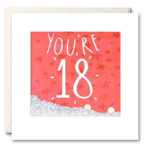 Shakies,You're,18,Birthday,Card,buy shakies birthday cards online, buy gender neutral birthday cards, buy unisex 18 birthday cards, buy 18th birthday cards online, buy age eighteen birthday cards online,