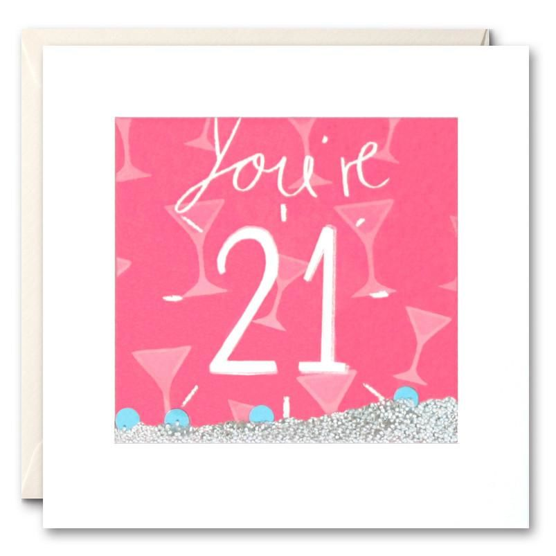 Shakies Youre 21 Birthday Card Karenza Paperie