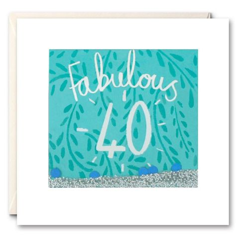 Shakies,40th,Birthday,Card,buy shakies birthday cards online, buy gender neutral birthday cards, buy unisex 40th birthday cards, buy age forty birthday cards for her online, buy fortieth birthday cards online, female age forty birthday cards, leaf age40 birthday cards