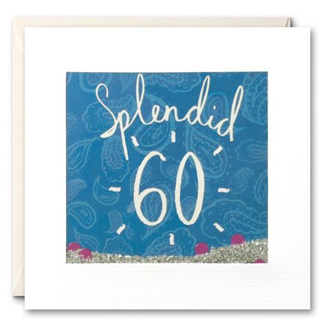 Shakies,Splendid,60th,Birthday,Card,buy shakies birthday cards online, buy gender neutral birthday cards, buy unisex 60th birthday cards, buy age sixty birthday cards for her online, buy sixtieth birthday cards online, age sixty birthday cards, paisly slendid age 60 birthday cards