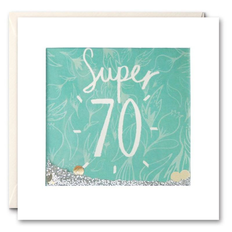 Shakies Super 70th Birthday Card - product images
