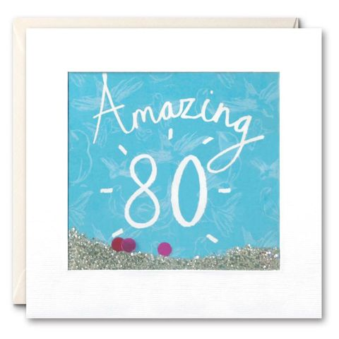 Shakies,Amazing,80th,Birthday,Card,buy shakies birthday cards online, buy gender neutral birthday cards, buy unisex 80th birthday cards, buy age eighty birthday cards for her online, buy female eightieth birthday cards online, age eighty birthday cards, birds age 80 birthday cards
