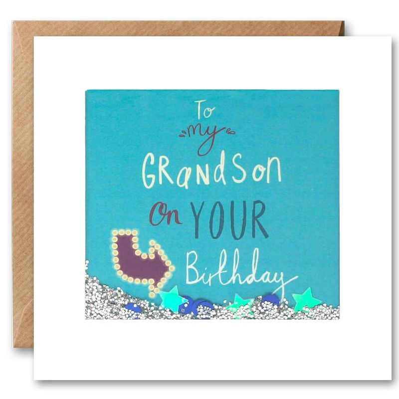 Shakies To My Grandson Happy Birthday Card - product images