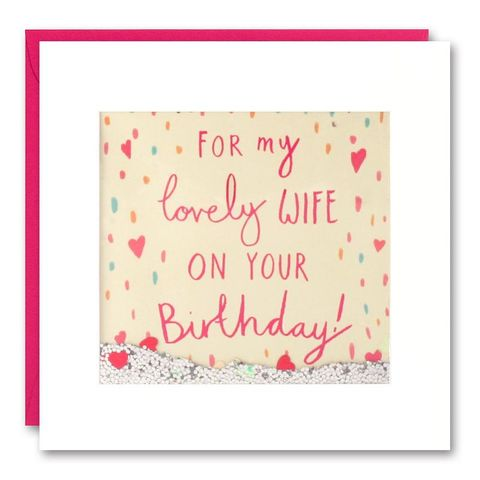 Shakies,Lovely,Wife,Happy,Birthday,Card,buy shakies birthday cards online, buy wife birthday cards online, buy wonderful birthday cards for wives online, buy luxury birthday cards for my wife online from husband or wife, buy heart birthday card for wife online, buy wife cards with hearts online