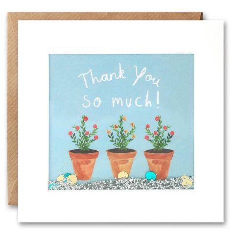 Shakies,Plant,Pots,Thank,You,Card,buy shakies thank you cards online, buy special thank you cards online with confetti, buy thank you cards with flowers online, buy plant thank you cards online, buy botantical garden thank you cards online,buy thank you cards online for him, buy thank you