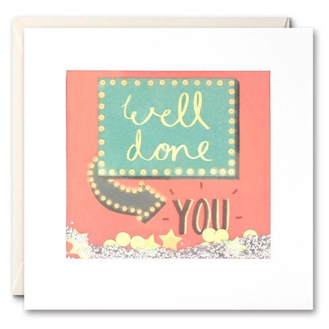 Shakies,Well,Done,You,Congratulations,Card,buy shakies cards online, buy special well done cards online with confetti, buy congrats well done you card online, buy congratulations card online, buy hand finished congratulations cards online