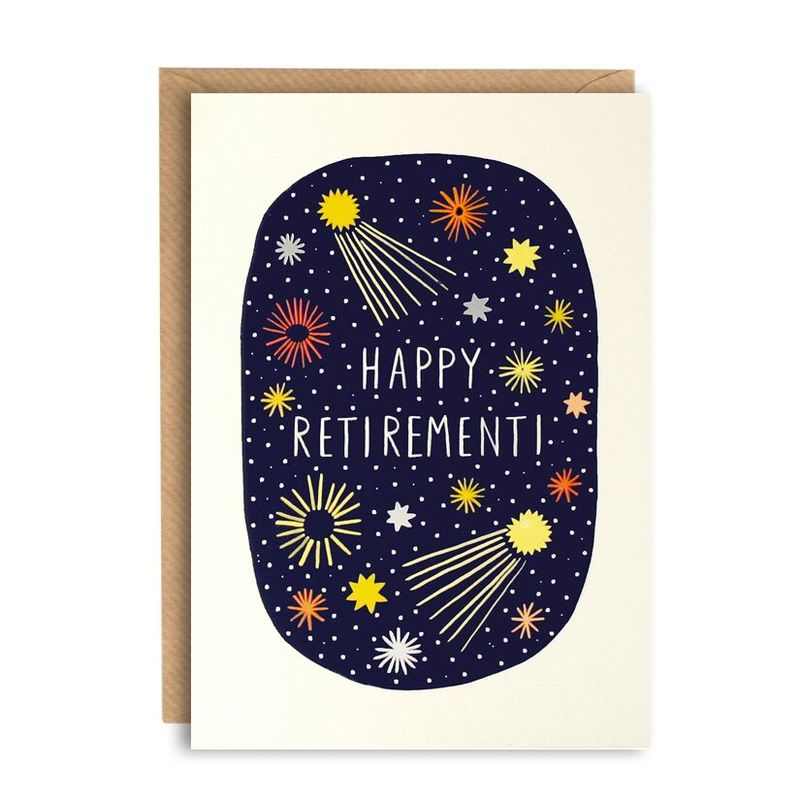 Fireworks Happy Retirement Card - product images