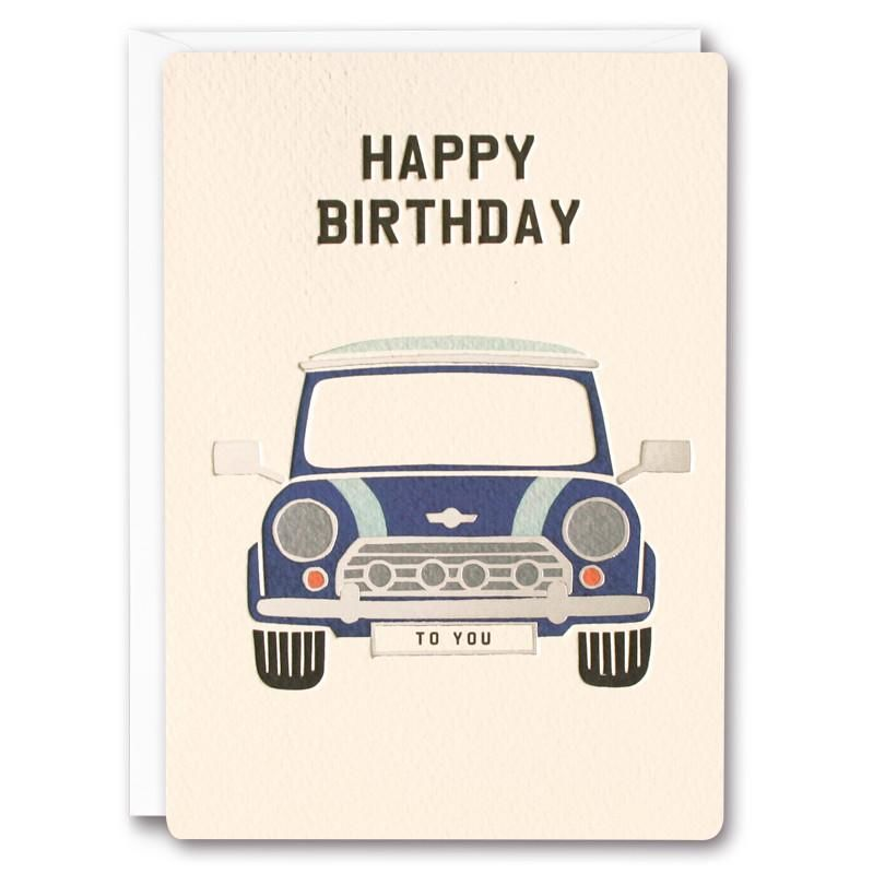 Mini Retro Birthday Card - product images