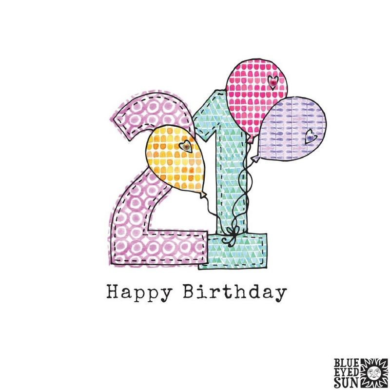 Balloons 21st Birthday Card - product images
