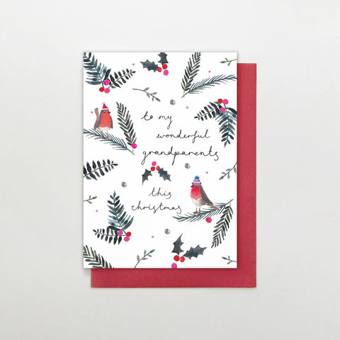 Hand,Finished,To,My,Wonderful,Grandparents,Christmas,Card,buy nan and grandad christmas cards online, buy wonderful grandparents christmas cards online, buy hand finished christmas cards online for grandparents, buy grandparent christmas cards online, buy christmas cards for grandma and grandad online