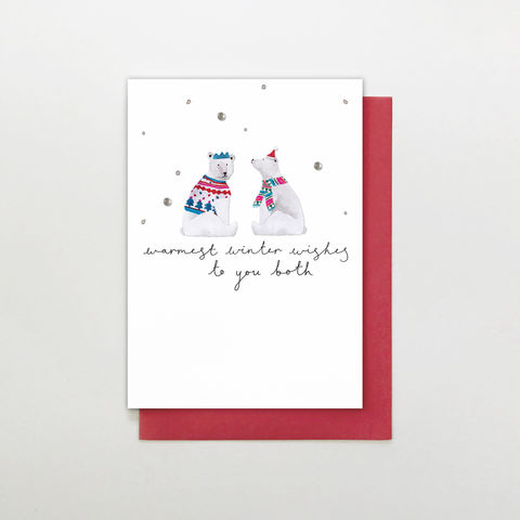 Warmest,Winter,Wishes,To,You,Both,Christmas,Card,buy special couple christmas card online, buy christmas cards for special couples online, buy to you both christmas card online, buy special couple christmas cards online, buy special friends family and relations christmas cards online,  buy polar bear ch
