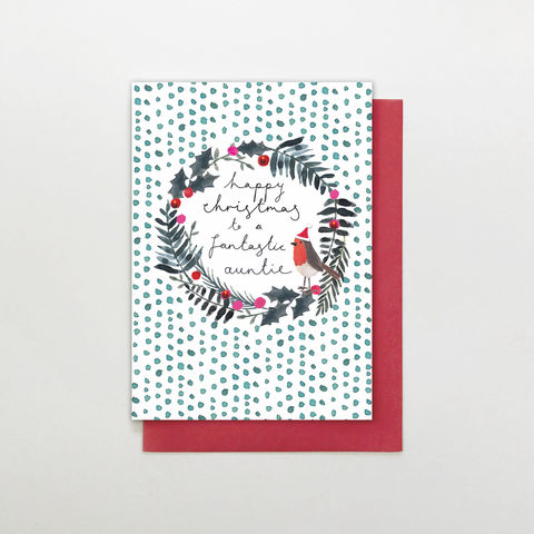 Hand,Finished,Fantastic,Auntie,Christmas,Card,buy auntie christmas cards online, buy wonderful auntie christmas cards online, buy hand finished christmas cards online for nanny nannies, buy grandparent christmas cards online, buy auntie christmas card from niece or nephew online, buy aunty christmas