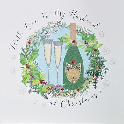 With,Love,To,My,Husband,At,Christmas,Card,-,Large,,Luxury,buy luxury christmas cards online, buy large christmas cards online, buy to the one i love at christmas card online, buy husband christmas card online, buy christmas cards for husbands online, buy romantic christmas card for my husband from husband or wif