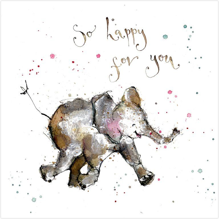 Elephant So Happy For You Card - product images