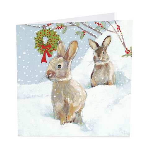 Pack,Of,Rabbits,&,Christmas,Wreath,Cards,-,Shelter,Charity,buy shelter charity christmas cards online, buy luxury christmas cards online with animals, buy rabbit christmas cards online, buy pack of christmas cards with rabbits, buy animal and bird christmas cards online