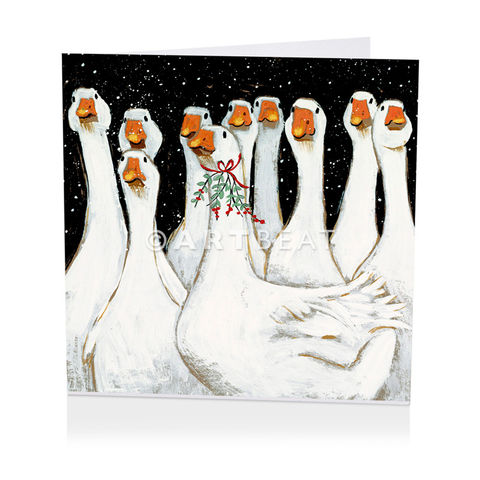 Pack,Of,Geese,Christmas,Cards,-,Shelter,Charity,buy shelter charity christmas cards online, buy luxury christmas cards online with birds, buy geese christmas cards online, buy pack of christmas cards with goose, buy animal and bird christmas cards online, buy little red robin and holly christmas card