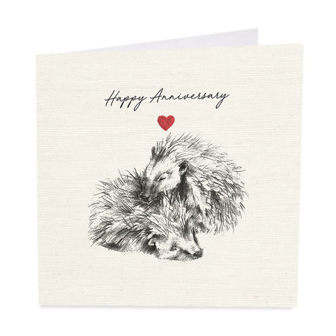 Hedgehogs,Happy,Anniversary,Card,buy hedgehog wedding anniversary cards online, buy happy anniversary cards with hedgehogs online, happy anniversary cards for wife husband special couple friends family, hedgehog animal anniversary cards