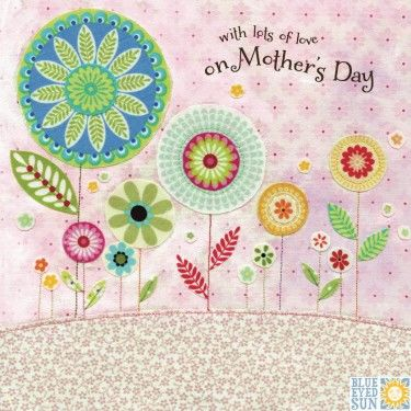 Floral,Garden,With,Lots,Of,Love,On,Mother's,Day,Card,buy floral garden mothers day card online with flowers, buy lovely mothering sunday card online, buy with love on mothers day cards with botany botantical flowers nature, mothers day card for mum mummy stepmum mom mam mother mums mummies from daughter son
