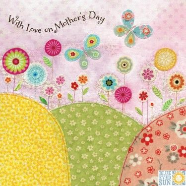 Butterflies & Flowers With Love On Mother's Day Card - product images