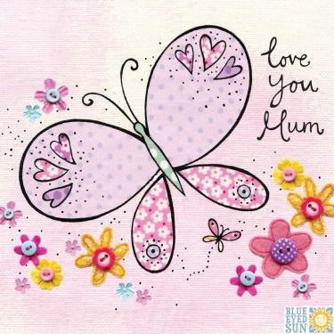 Butterfly Love You Mum Mother's Day Card - product images