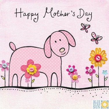 Pink,Dog,Happy,Mother's,Day,Card,buy dog mothers day card online, buy lovely mothering sunday cards online with dogs, buy happy mothers day cards with pink dog butterflies fowers nature, mothers day card for mum mummy stepmum mom mam mother mums mummies from daughter son child children